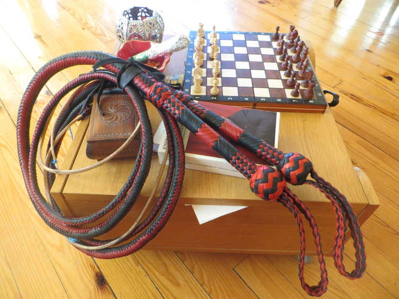 7ft black and red bullwhip pair Img_4711