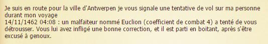 ( TOP : Tentative brigandage) Euclion = 4j prison Preuve10