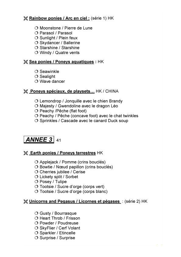Check list G1 faites par Sahelisa Usa-210