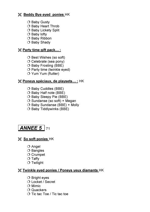 Check list G1 faites par Sahelisa Usa-510