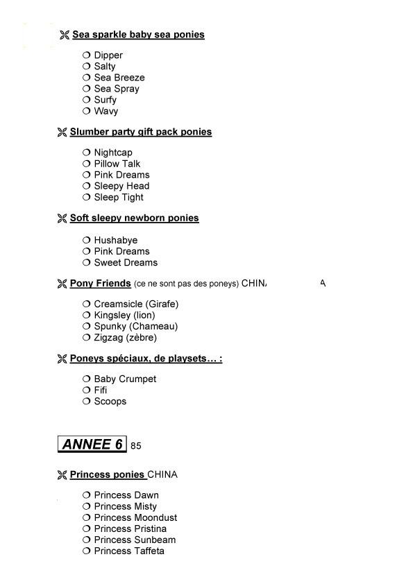 Check list G1 faites par Sahelisa Usa-710