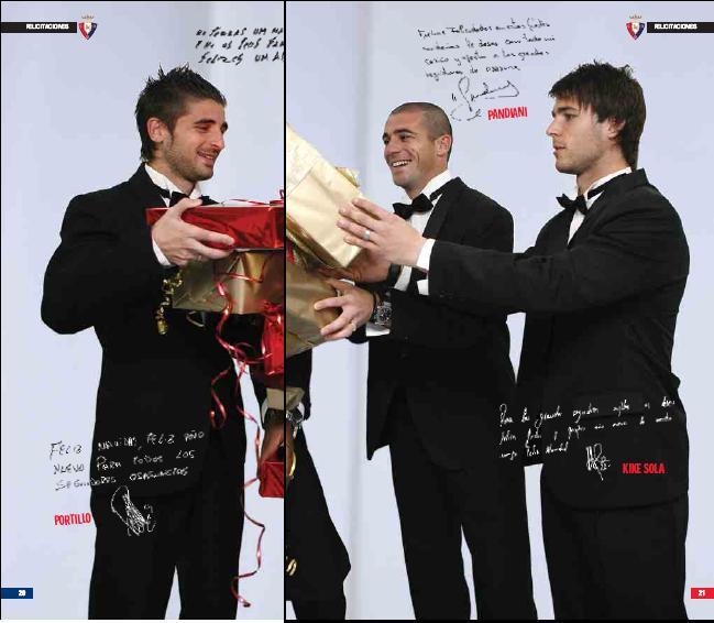 Javi shared the Christmas gifts wif Osasuna teammates :) Osasun10