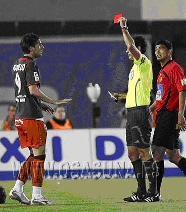 Javi got the red card during the match.. Portil12