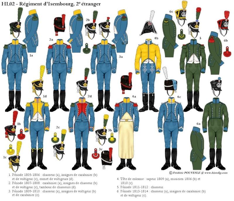 Carabinier Du 2 eme Regiment etranger Isembourg 1806  Isembo10