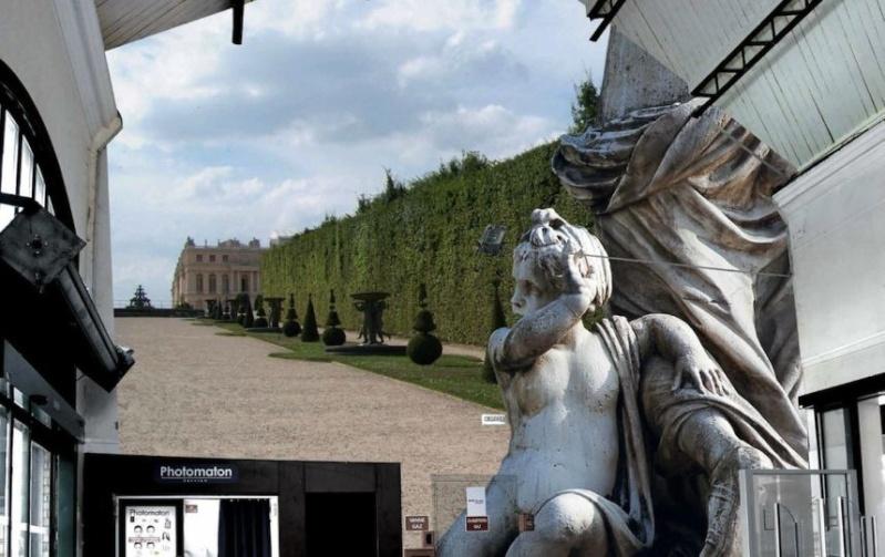 La gare SNCF de Versailles déguisée… en Château de Versailles Jardin10