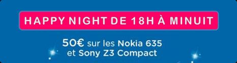 Happy Night: 50€ de remise jusqu'à minuit en renouvellement 14164011