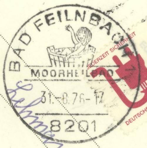 1945 - Ortswerbestempel - Deutschland nach 1945 (Handstempel) Bad_fe10