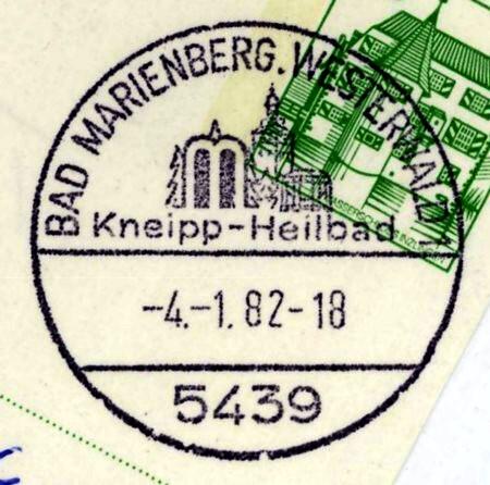 1945 - Ortswerbestempel - Deutschland nach 1945 (Handstempel) Bad_ma10