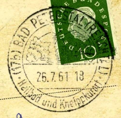 1945 - Ortswerbestempel - Deutschland nach 1945 (Handstempel) Bad_pe10