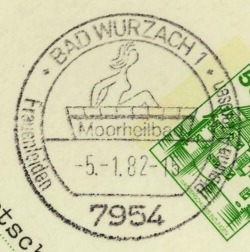 1945 - Ortswerbestempel - Deutschland nach 1945 (Handstempel) Bad_wu10