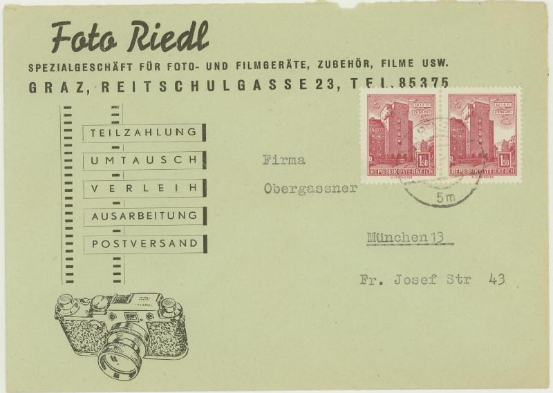 Werbeumschläge und -karten aus Österreich Fotoap13