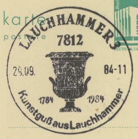 1945 - Ortswerbestempel - Deutschland nach 1945 (Handstempel) Lauchh10