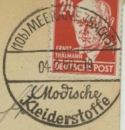 1945 - Ortswerbestempel - Deutschland nach 1945 (Handstempel) Meeran10