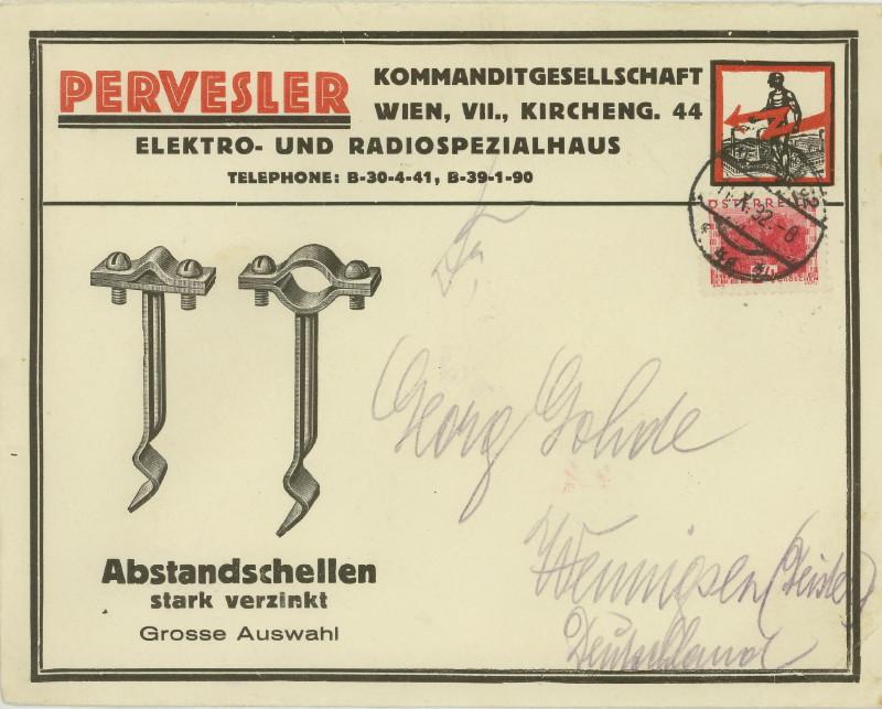 Werbeumschläge und -karten aus Österreich Schell10