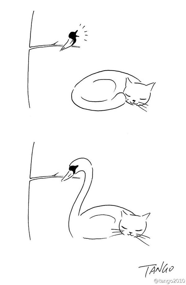 Bộ tranh đơn giản hài hước Thich-17