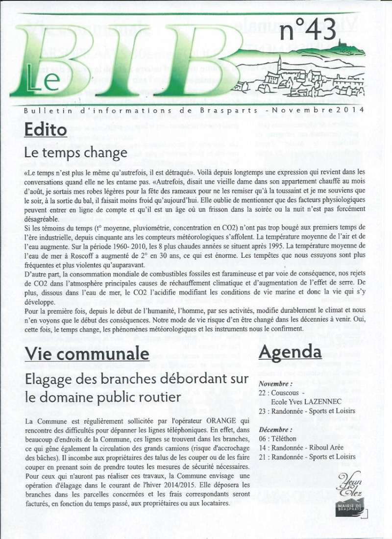 Bulletin d'information de Brasparts n°43 0111