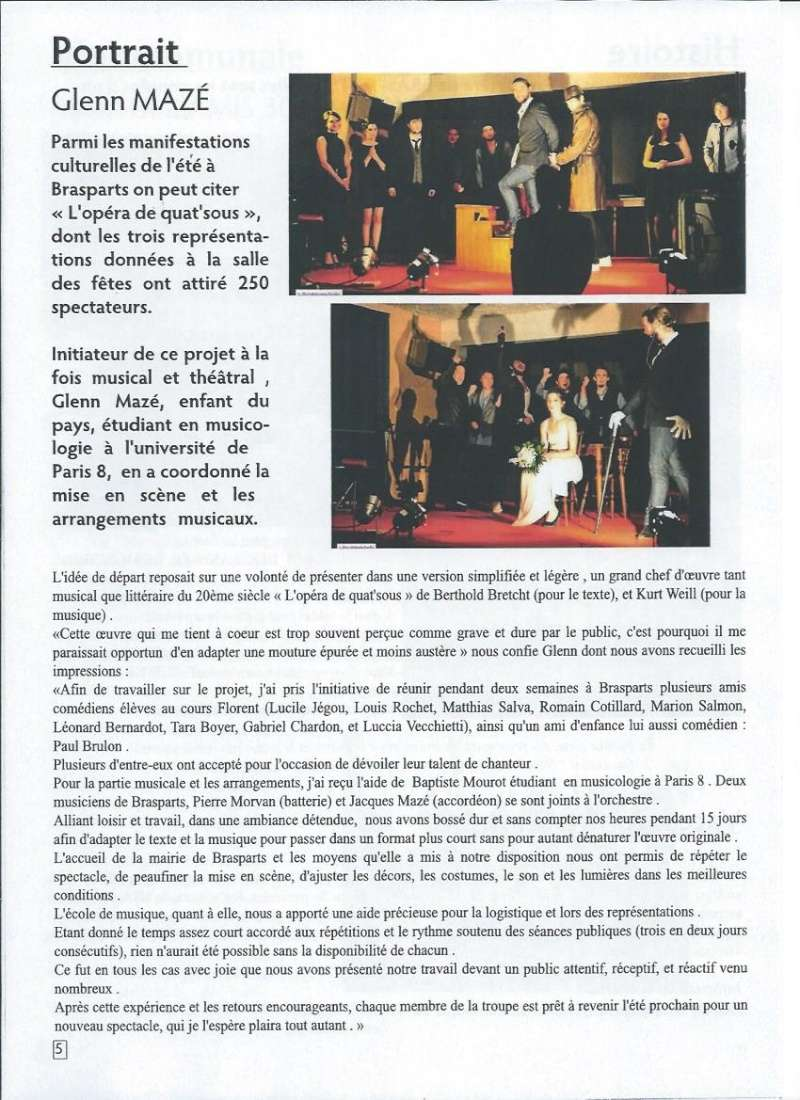 Bulletin d'information de Brasparts n°43 0511