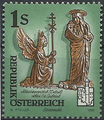 """Freimarkenserie """"Kunstwerke aus Stiften und Klöstern"""" 0100_a10"""