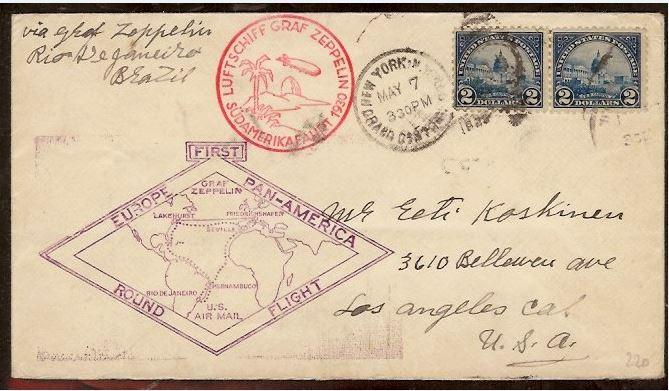 nach - Südamerikafahrt 1930, Post nach Rio de Janeiro 0134
