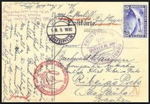 nach - Südamerikafahrt 1930, Post nach Rio de Janeiro 0141
