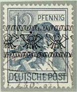 Besonderheiten der Band- und Netzaufdrucke nach der Währungsreform 0217