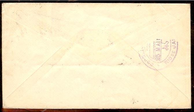 nach - Südamerikafahrt 1930, Post nach Rio de Janeiro 02_20013