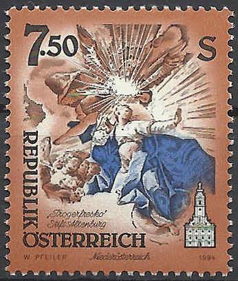 """Freimarkenserie """"Kunstwerke aus Stiften und Klöstern"""" 0750_a10"""