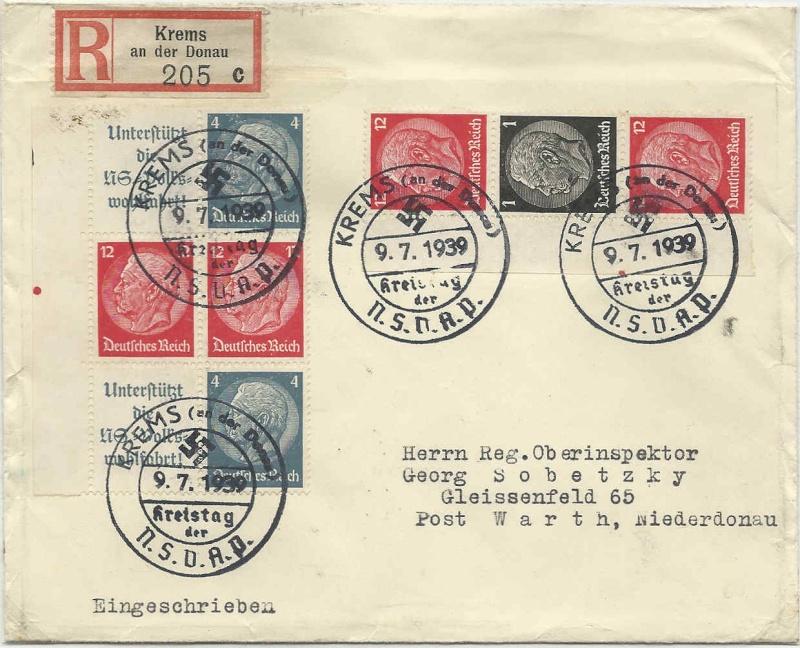 Deutsches Reich Zusammendrucke und Markenheftchen 19390710