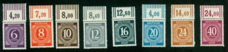 Gemeinschaftsausgaben für die amerikanische, britische und sowjet. Besatzungszone 211