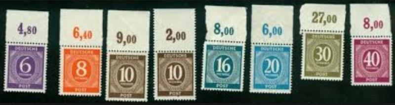 Gemeinschaftsausgaben für die amerikanische, britische und sowjet. Besatzungszone 310