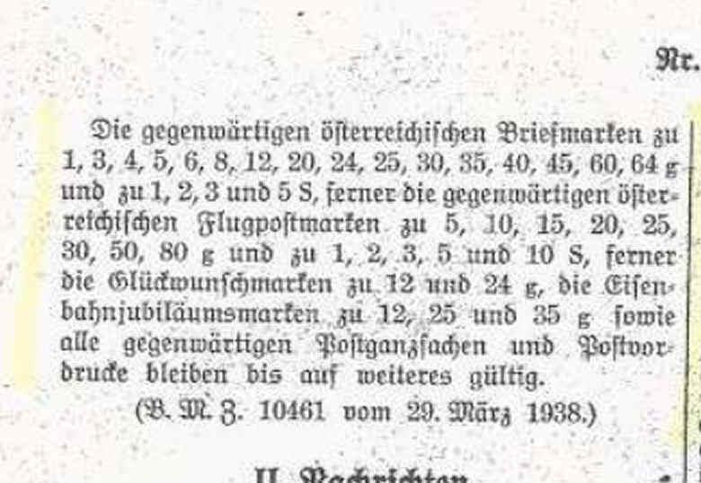 Österreichische Briefmarken im III. Reich Amtsbl10