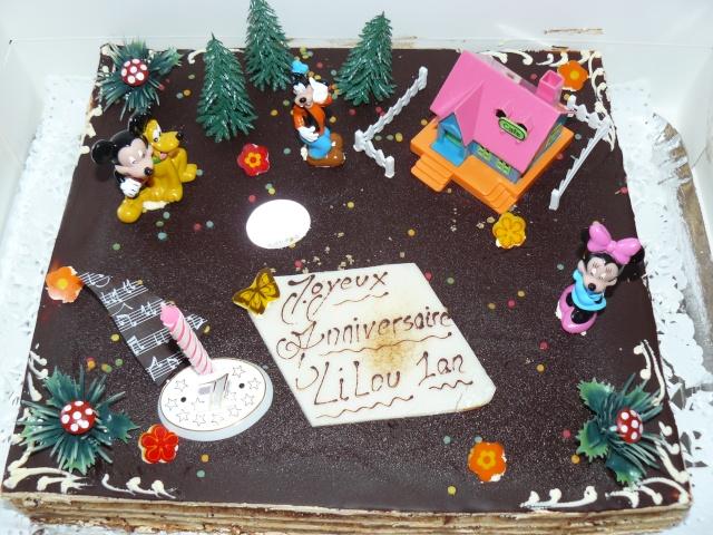 Gâteaux d'anniversaire Disney de nos miniatures P1190710