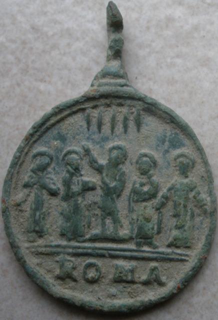 Médaille Ste Isabelle & Les cinq saints et sainte - XVIIème Shiv110