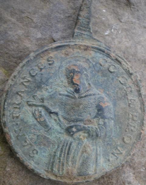 Médaille St-Francois d'Assise & St-Joseph Cupertino - XVIIIème Stfra10