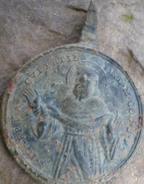 Médaille St-Francois d'Assise & St-Joseph Cupertino - XVIIIème Stfra110