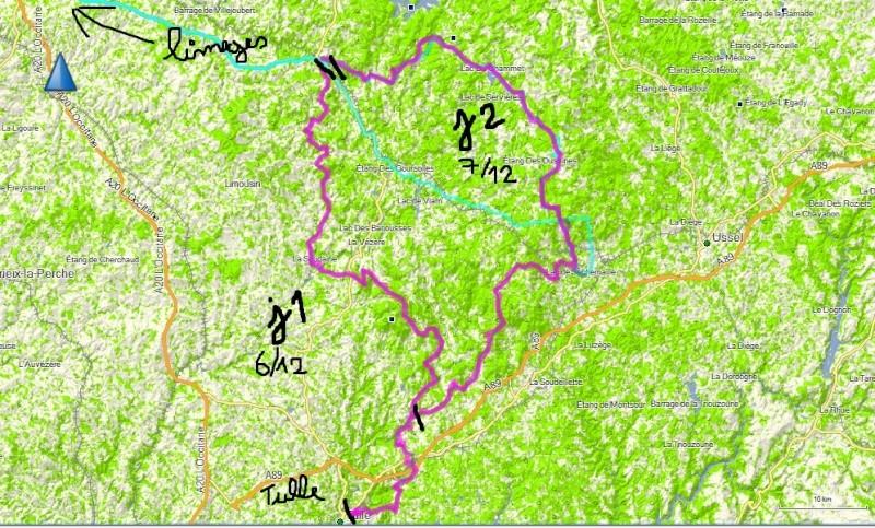 cherche trace ou piste depuis limoges,millevaches sur 2 jours Parcou10