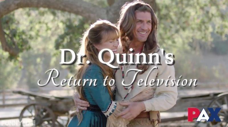 """Vidéo pour """"Funny or Die"""" avec les acteurs de Dr Quinn Captur11"""