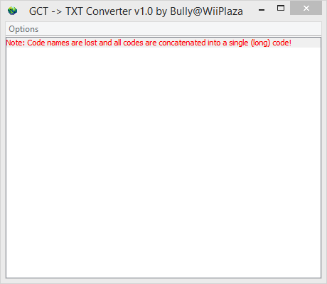 GCT To TXT Converter Gct_to10