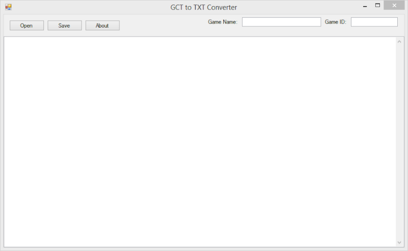 GCT To TXT Converter Gct_to11