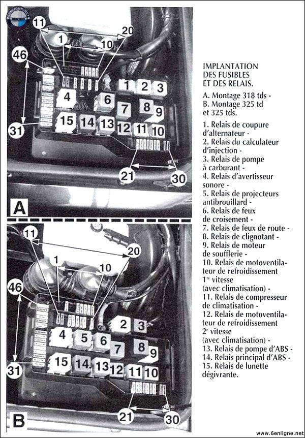 [ BMW E36 316i.auto/ compact an 1994 ] probleme allumage et pompe a essence Fusibl10