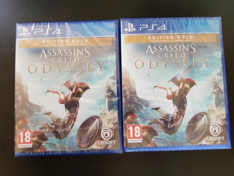 [VENDU] AC Odyssey PS4 (édition Gold, neuf) 20181010