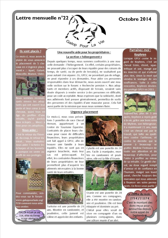 GPLV - Lettre mensuelle n°22 - Octobre 2014 Nl_oct10