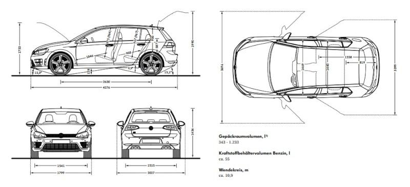Golf 7 R + R (Variant) SW (version commerciale !) 1/1 R12