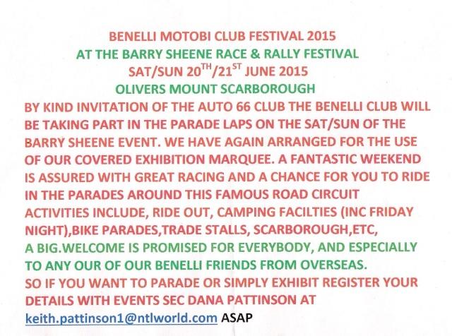 Benelli Motobi Club Festival 2015 Benell11
