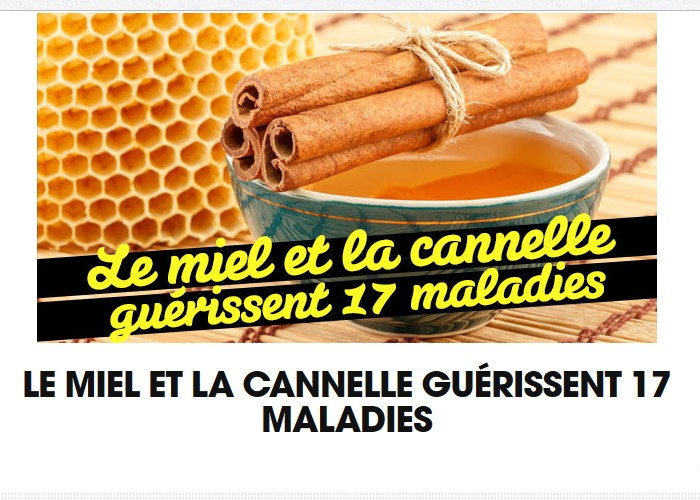 Le miel et la cannelle guérissent 17 maladies Sans_t87