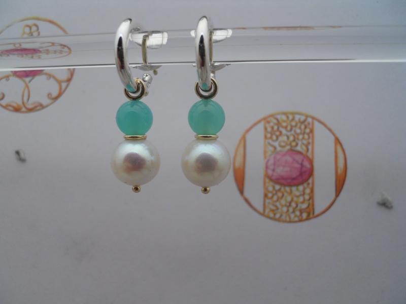 Chrysoprase et perles.... pour le plaisir de la couleur. 04010