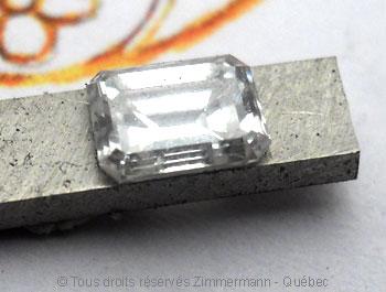 Solitaire palladium avec diamant taille émeraude de 43/100 ct Sopa0818