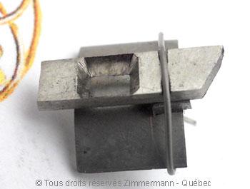 Solitaire palladium avec diamant taille émeraude de 43/100 ct Sopa0819