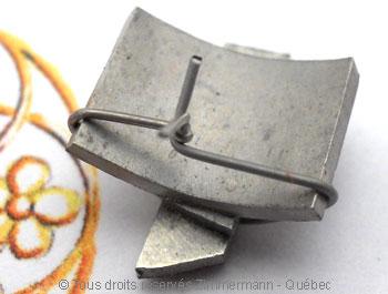 Solitaire palladium avec diamant taille émeraude de 43/100 ct Sopa0820