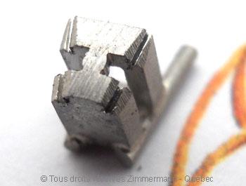 Solitaire palladium avec diamant taille émeraude de 43/100 ct Sopa0824